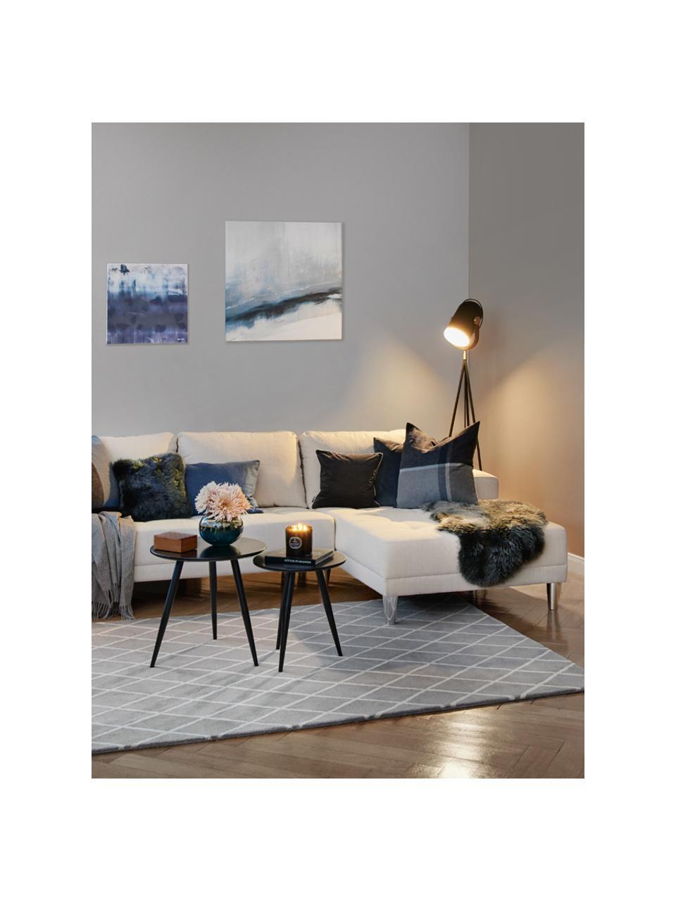 Beistelltisch 2er-Set Colette in Schwarz, Tischplatte: Mitteldichte Holzfaserpla, Schwarz, Sondergrößen