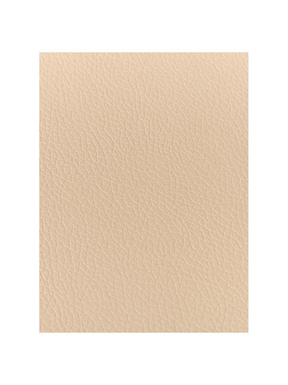 Ronde placemats Asia, 2 stuks, Kunstleer (PVC), Beige, Ø 38 cm