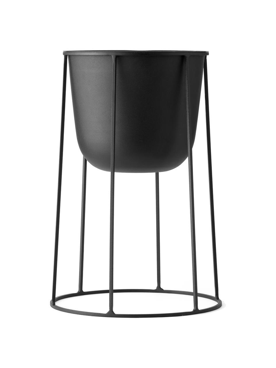Stand portavaso in metallo Wire Base, Acciaio verniciato a polvere, Nero, Ø 23 x Alt. 40 cm