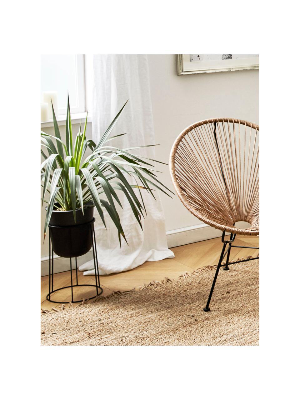 Grote plantenpot standaard Wire Base van staal, Staal, poedergecoat, Zwart, Ø 23 x H 40 cm