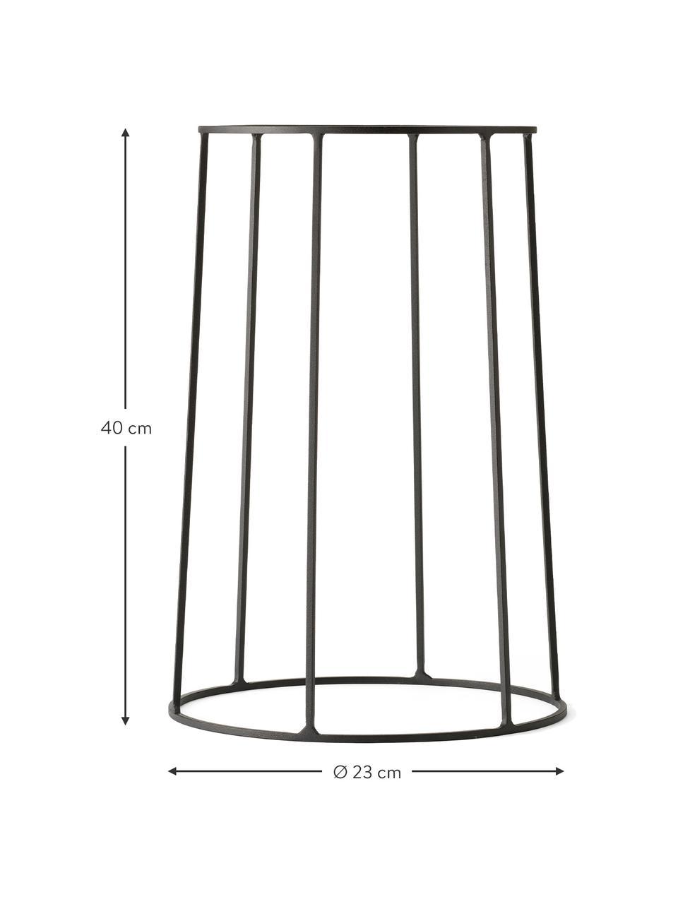 Großer Pflanztopfständer Wire Base aus Stahl, Stahl, pulverbeschichtet, Schwarz, Ø 23 x H 40 cm