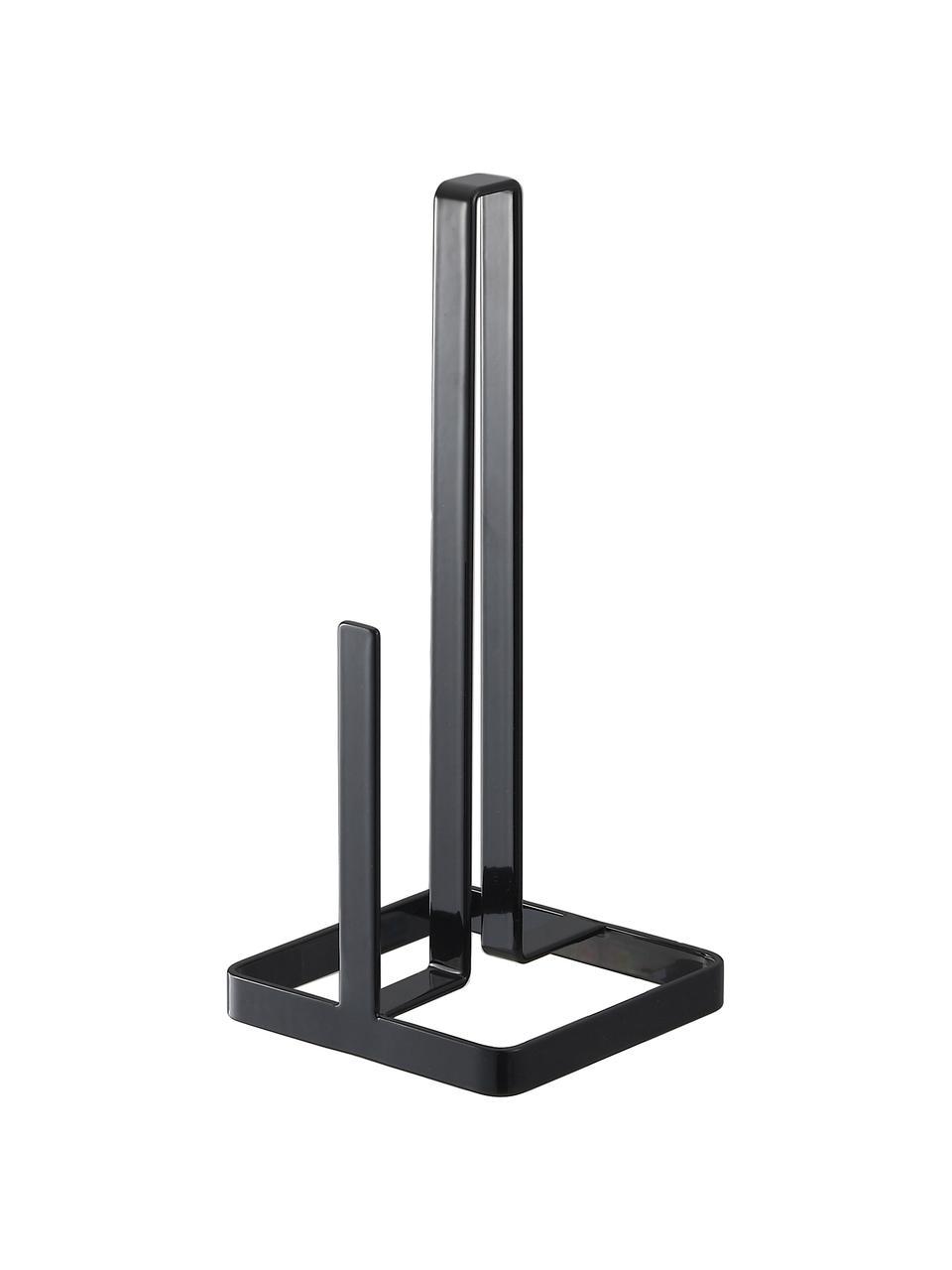Stojak na ręcznik papierowy Tower, Stal powlekana, Czarny, S 11 x W 27 cm