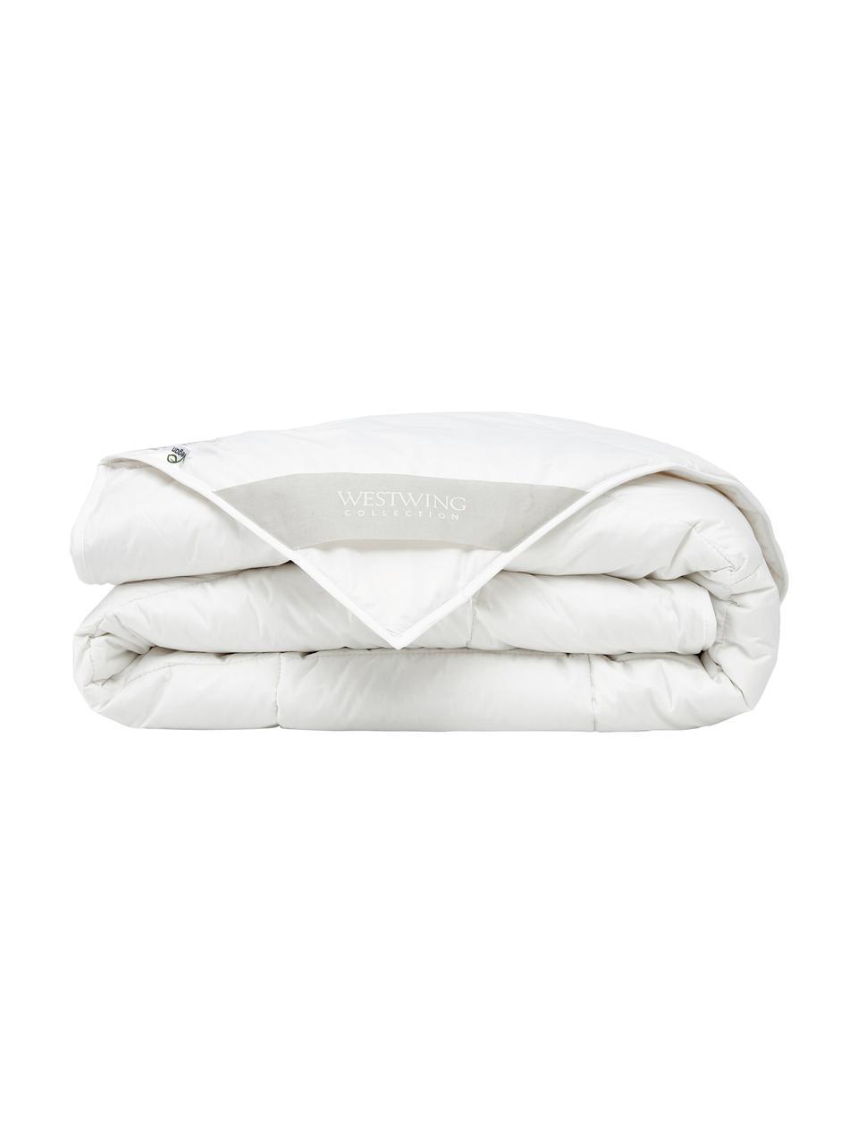 Wegańska kołdra z kapoka i bawełny, standard, Tapicerka: 100% bawełna, Biały, S 240 x D 220 cm