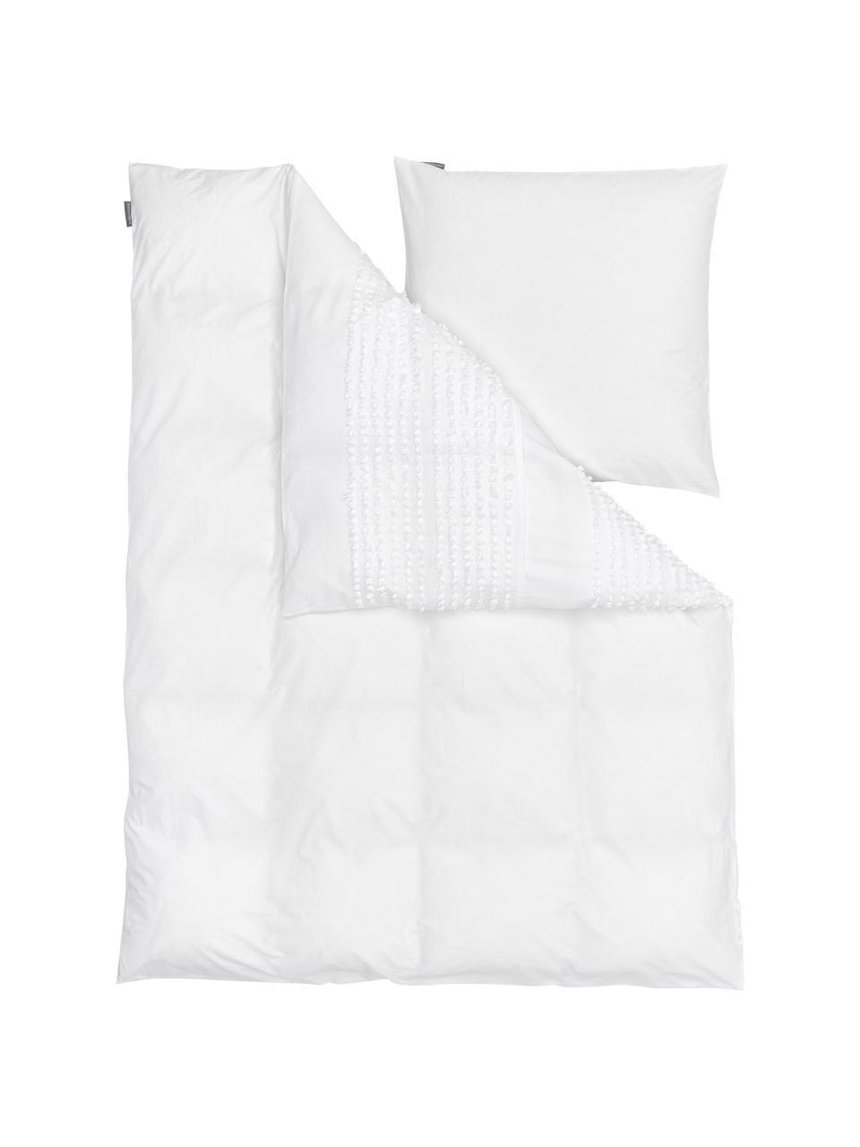 Pościel z bawełny Endure, Biały, 135 x 200 cm + 1 poduszka 80 x 80 cm