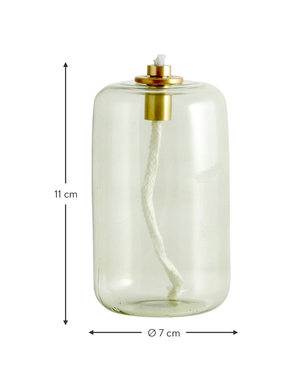 Öllampe Nias, Glas, Grün, Ø 7 x H 11 cm