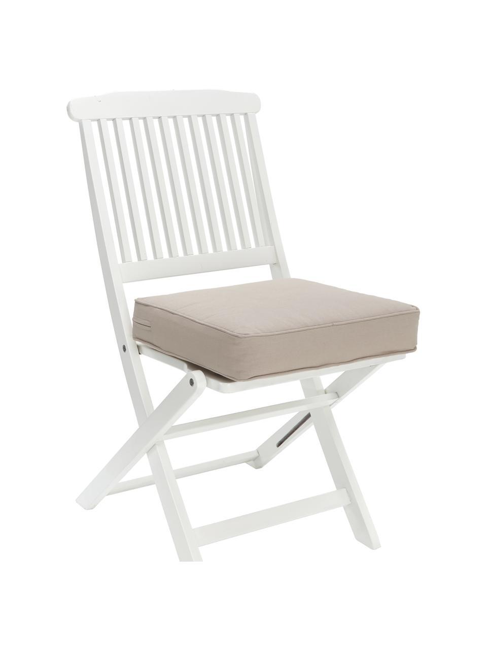 Sitzkissen Zoey in Taupe, Bezug: 100% Baumwolle, Beige, 40 x 40 cm
