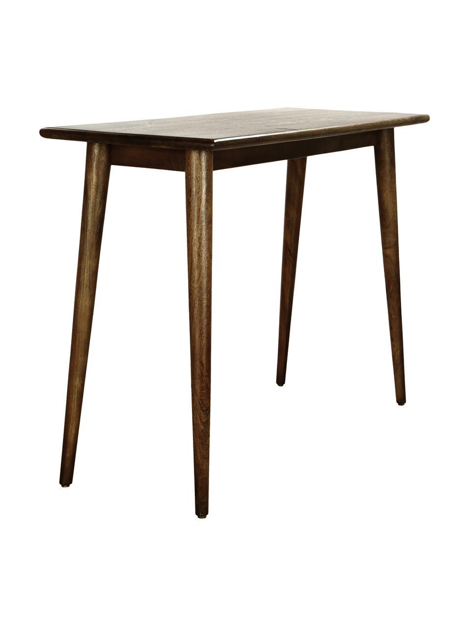 Konzolový stolek z masivu Oscar, Tmavě hnědá