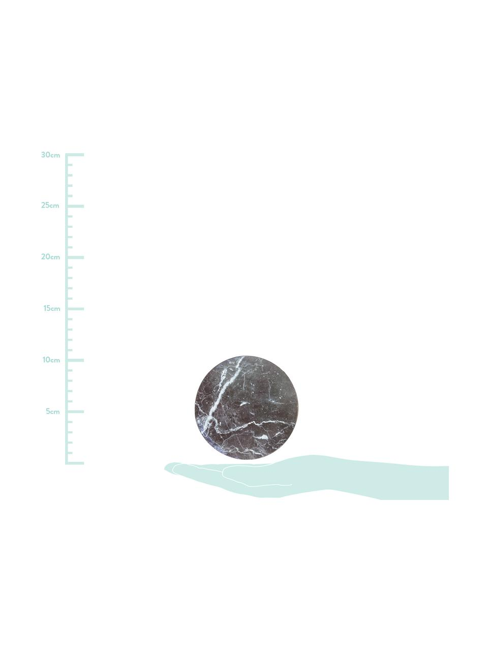 Kork-Untersetzer Cara in Marmoroptik, 6er-Set, Kork, beschichtet, Marmor-Optik, Ø 10 cm