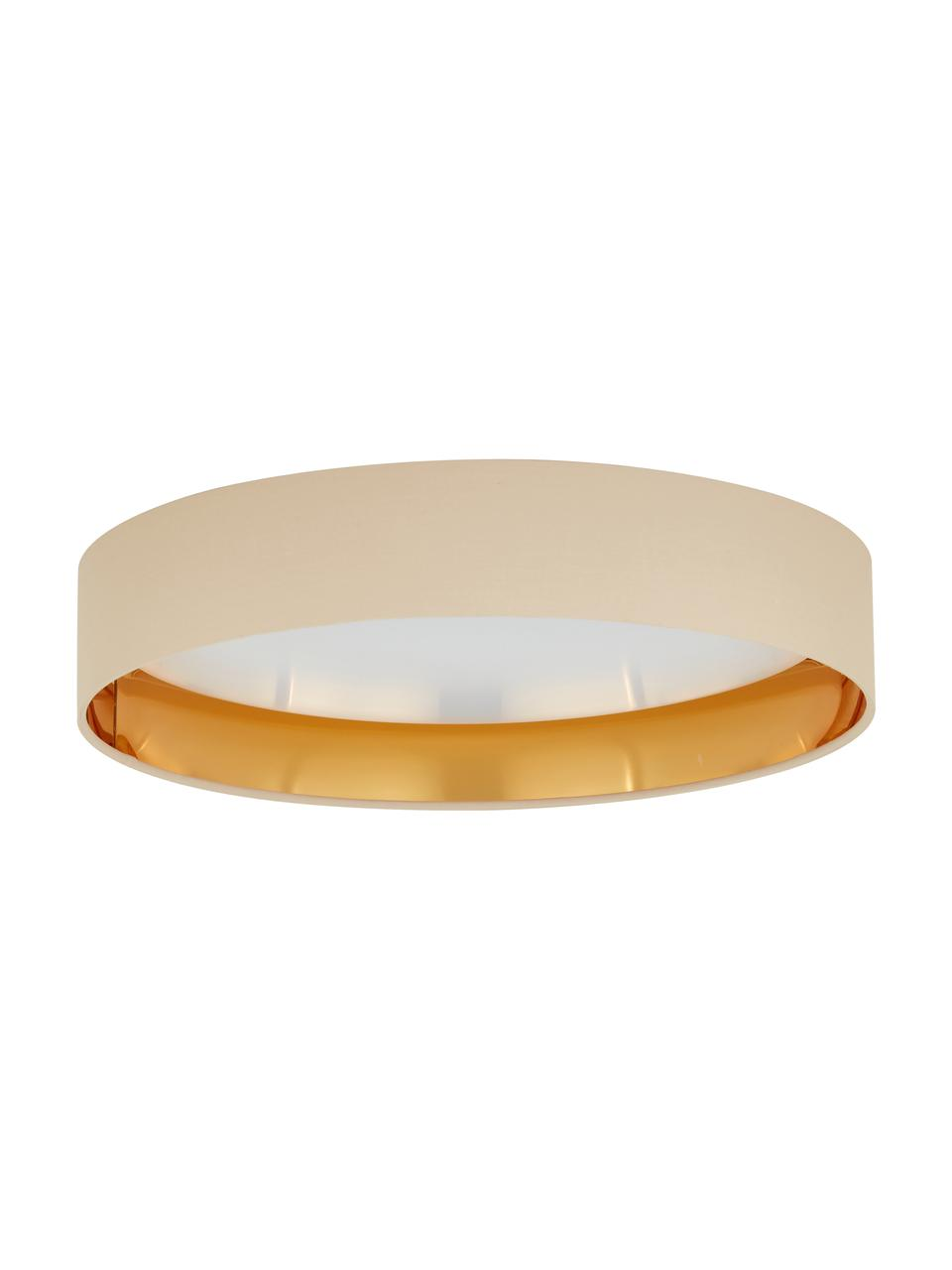 LED plafondlamp Mallory in taupe, Diffuser: kunststof, Taupe, Ø 41 x H 10 cm
