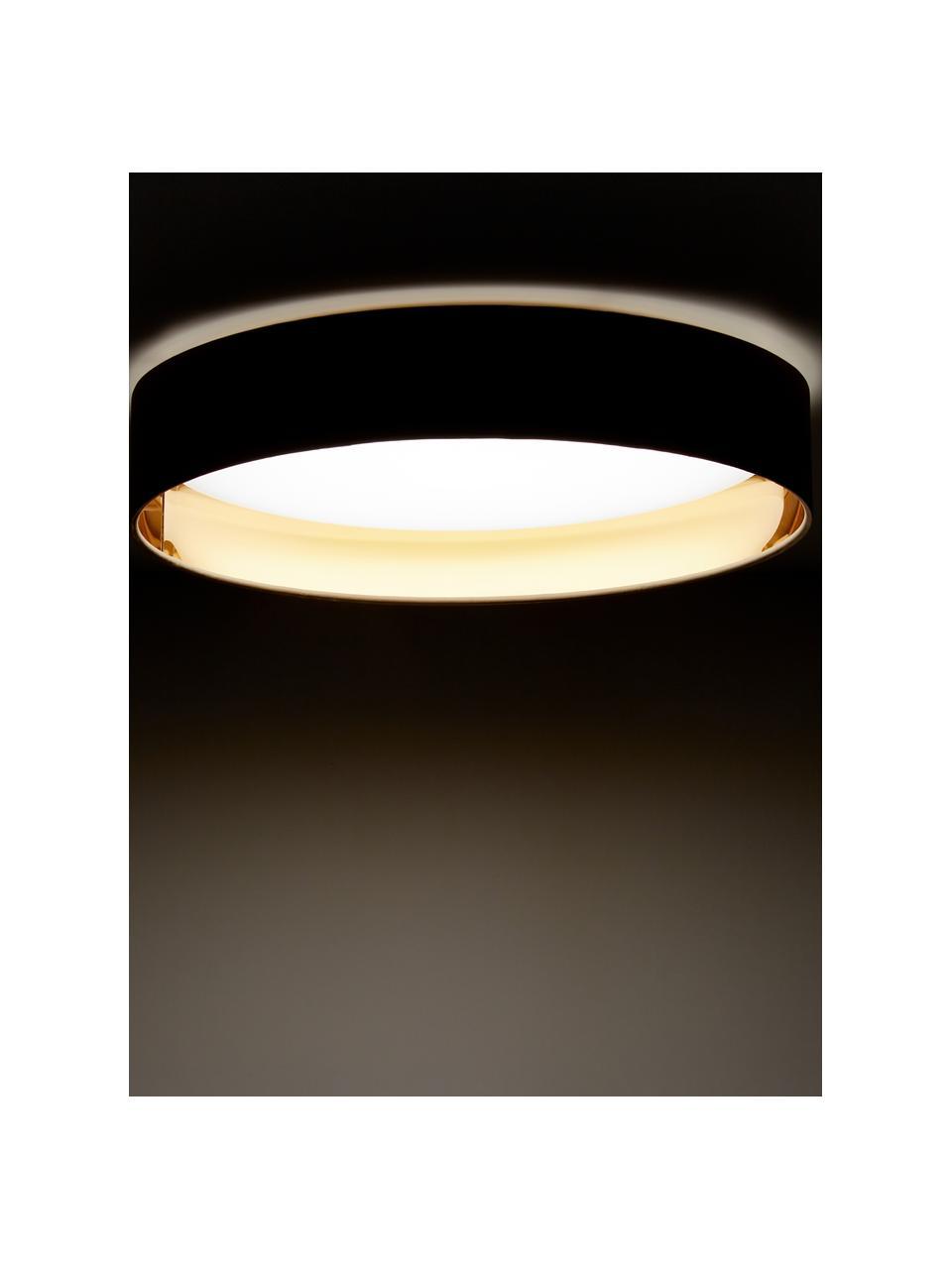Plafoniera a LED color taupe Mallory, Cornice: metallo, Taupe, Ø 41 x Alt. 10 cm