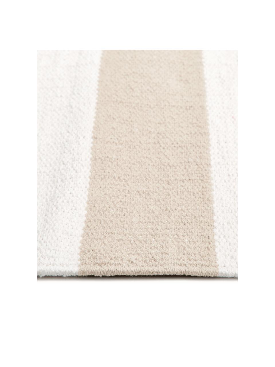 Tappeto in cotone Blocker, 100% cotone, Beige, Larg. 200 x Lung. 300 cm (taglia L)
