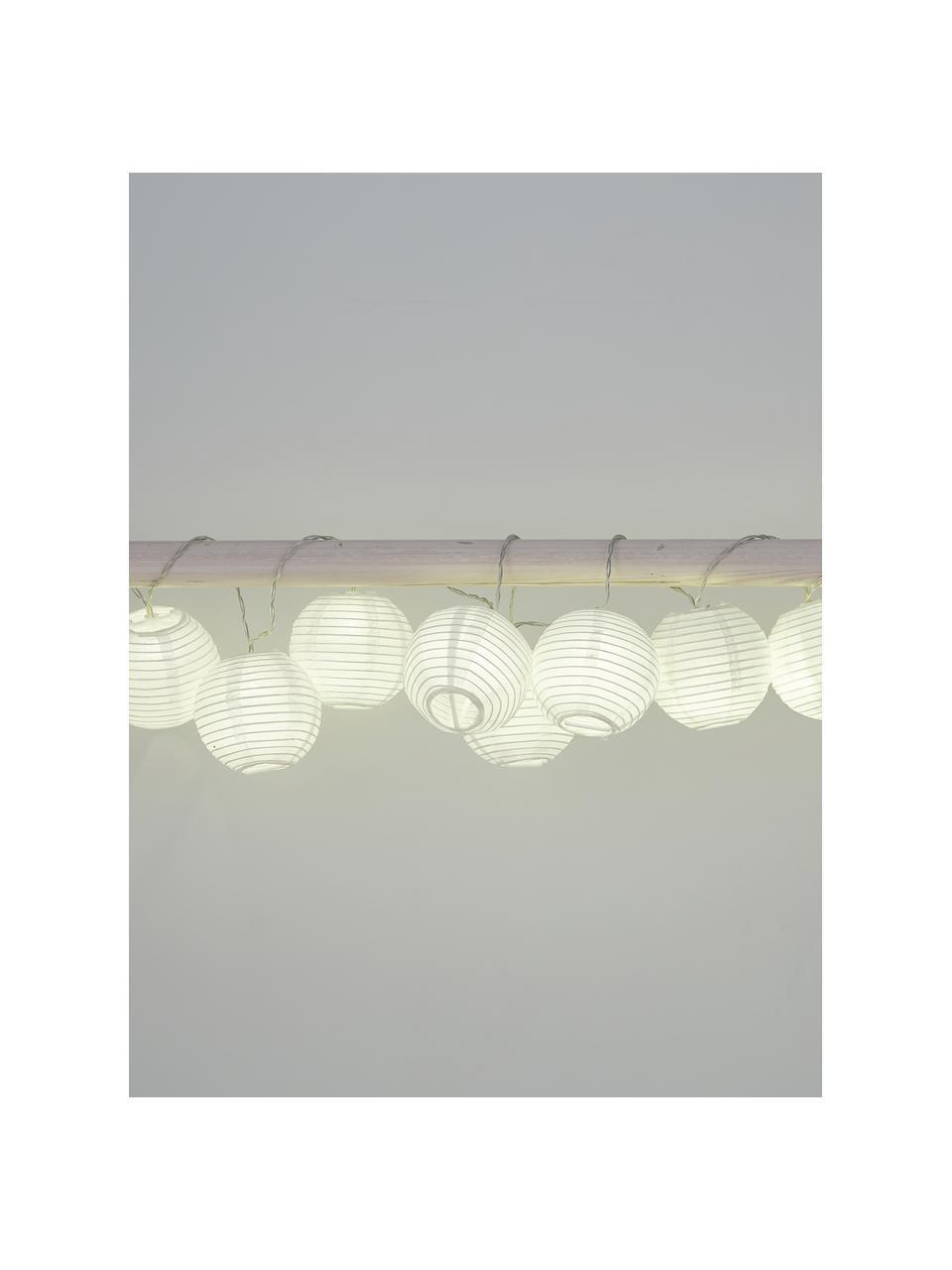 Ghirlanda  a LED Festival, 300 cm, 10 lampioni, Lanterne: carta, Bianco, Lung. 300 cm