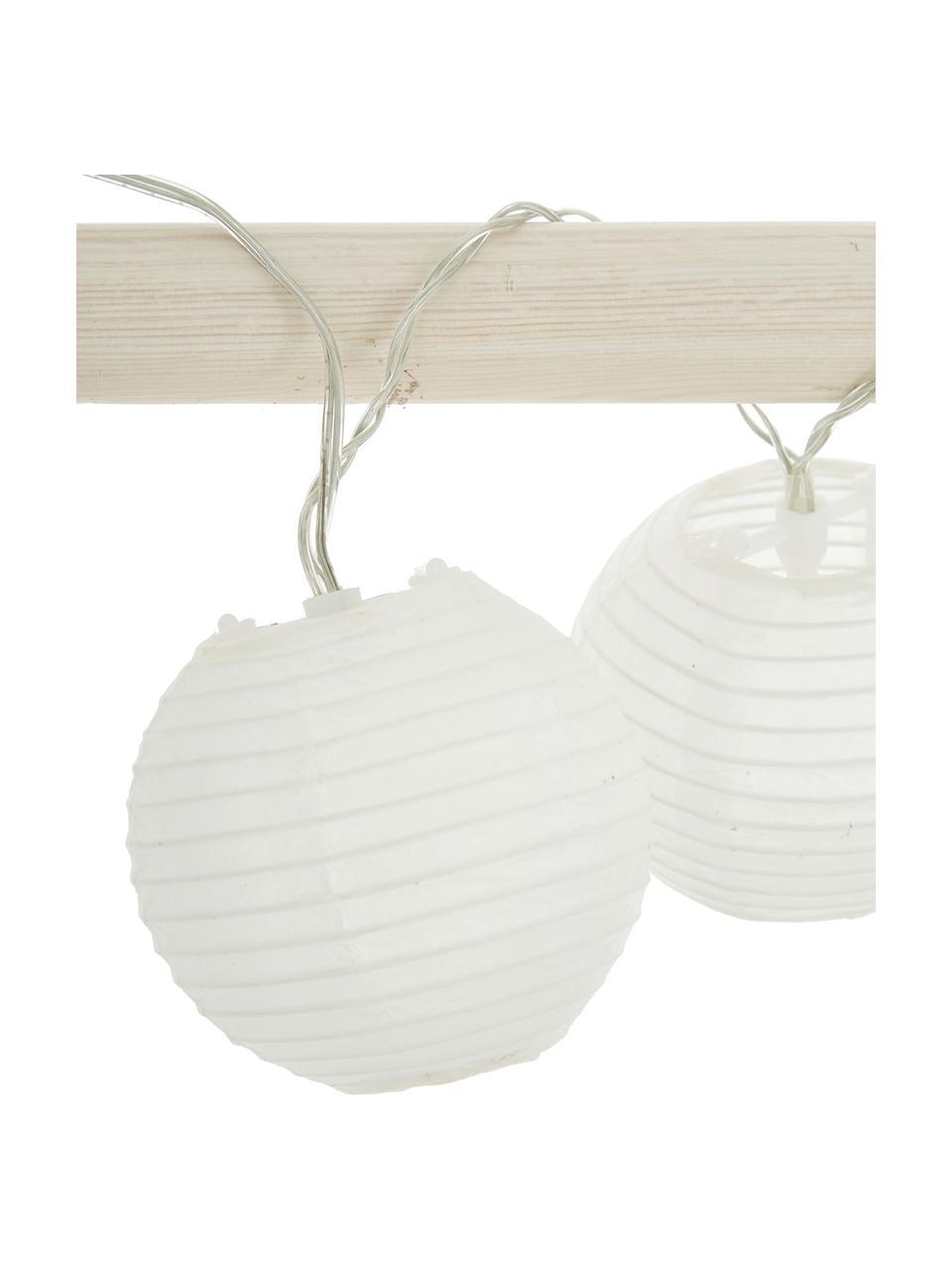LED-Lichterkette Festival, 300 cm, 10 Lampions, Lampions: Papier, Weiß, L 300 cm
