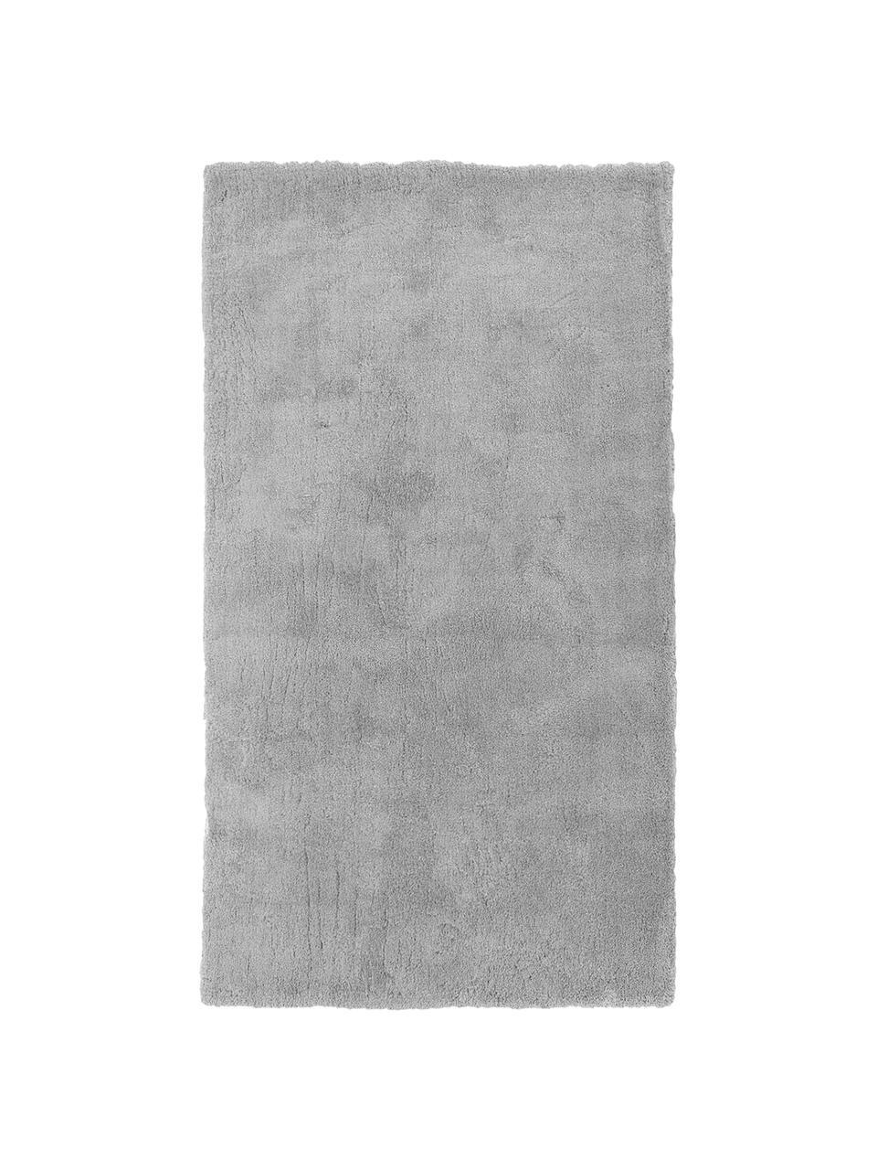 Tappeto morbido a pelo lungo grigio Leighton, Retro: 70% poliestere, 30% coton, Grigio, Larg. 200 x Lung. 300 cm (taglia L)