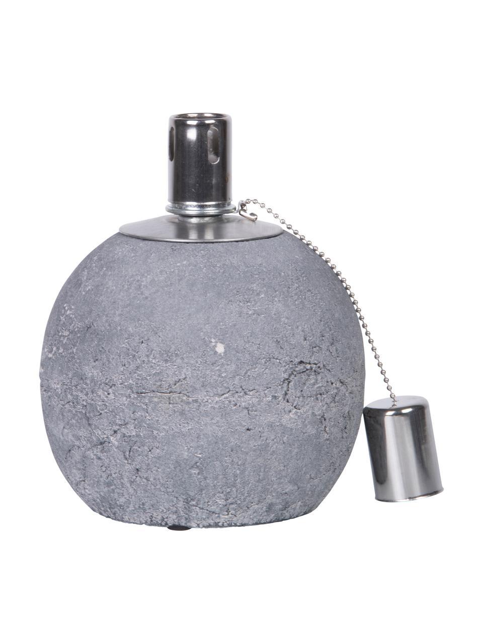 Lampada a olio Raw, Cemento, acciaio inossidabile, Grigio, Ø 14 x Alt. 17 cm