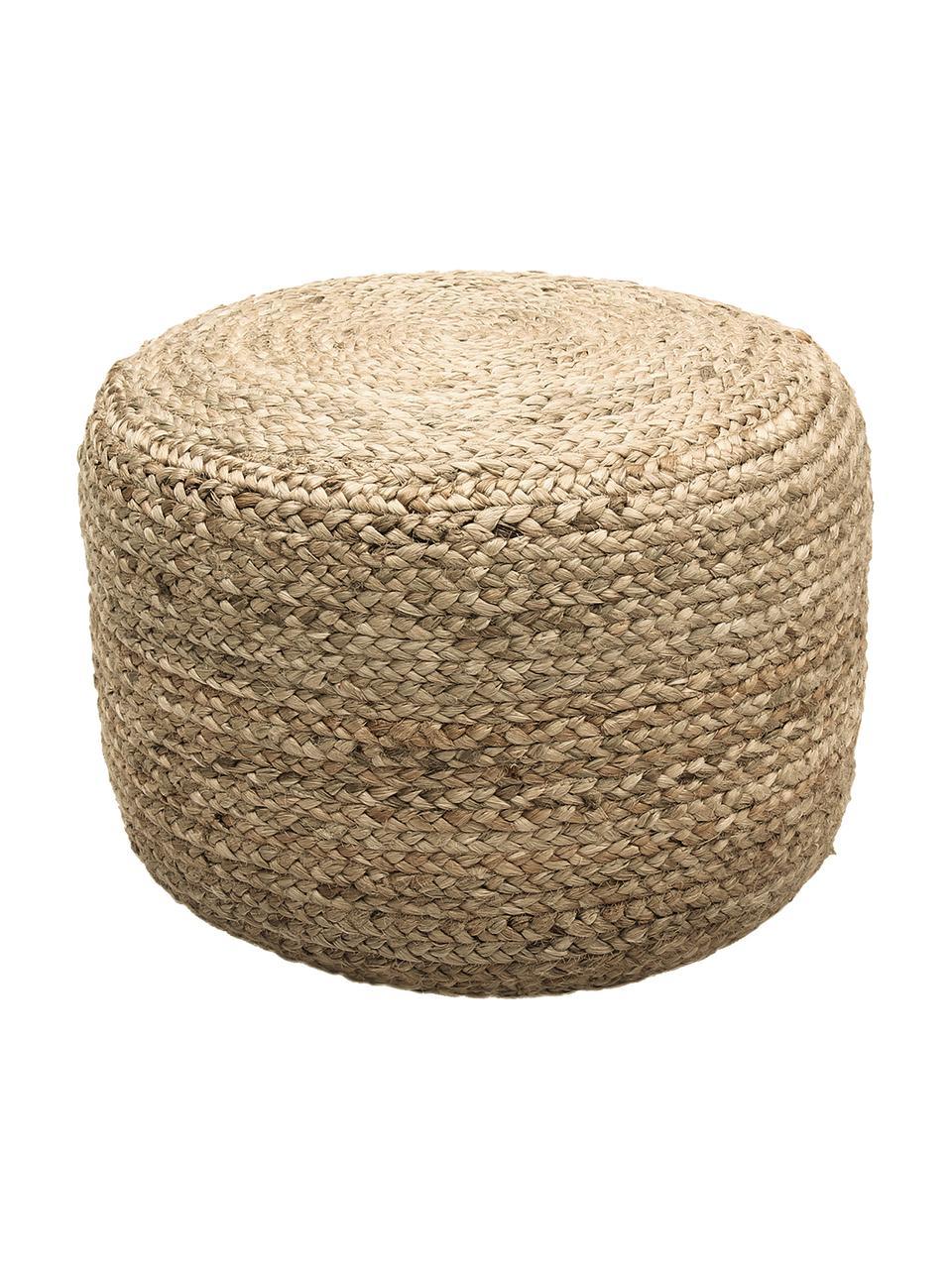 Ručně vyrobený puf zjuty Bono, Béžová