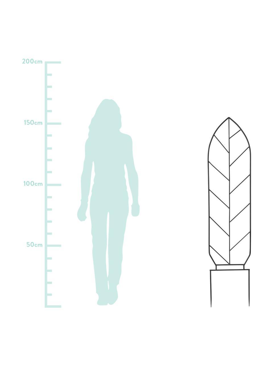 Plantenklimrek Lexi, Gecoat metaal, Zwart, 35 x 155 cm