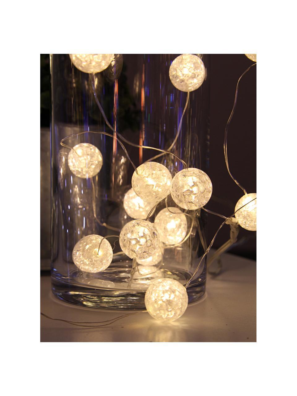 LED-Lichterkette Raindrop, 140 cm, Kunststoff, Weiß, L 140 cm