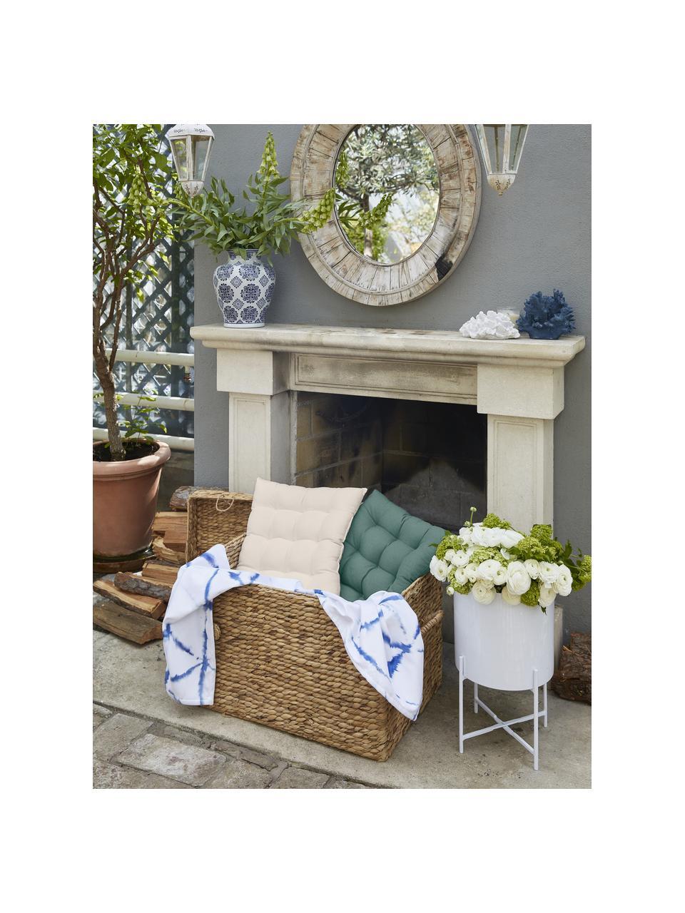 Sitzkissen Ava in Beige, Bezug: 100% Baumwolle, Beige, 40 x 40 cm