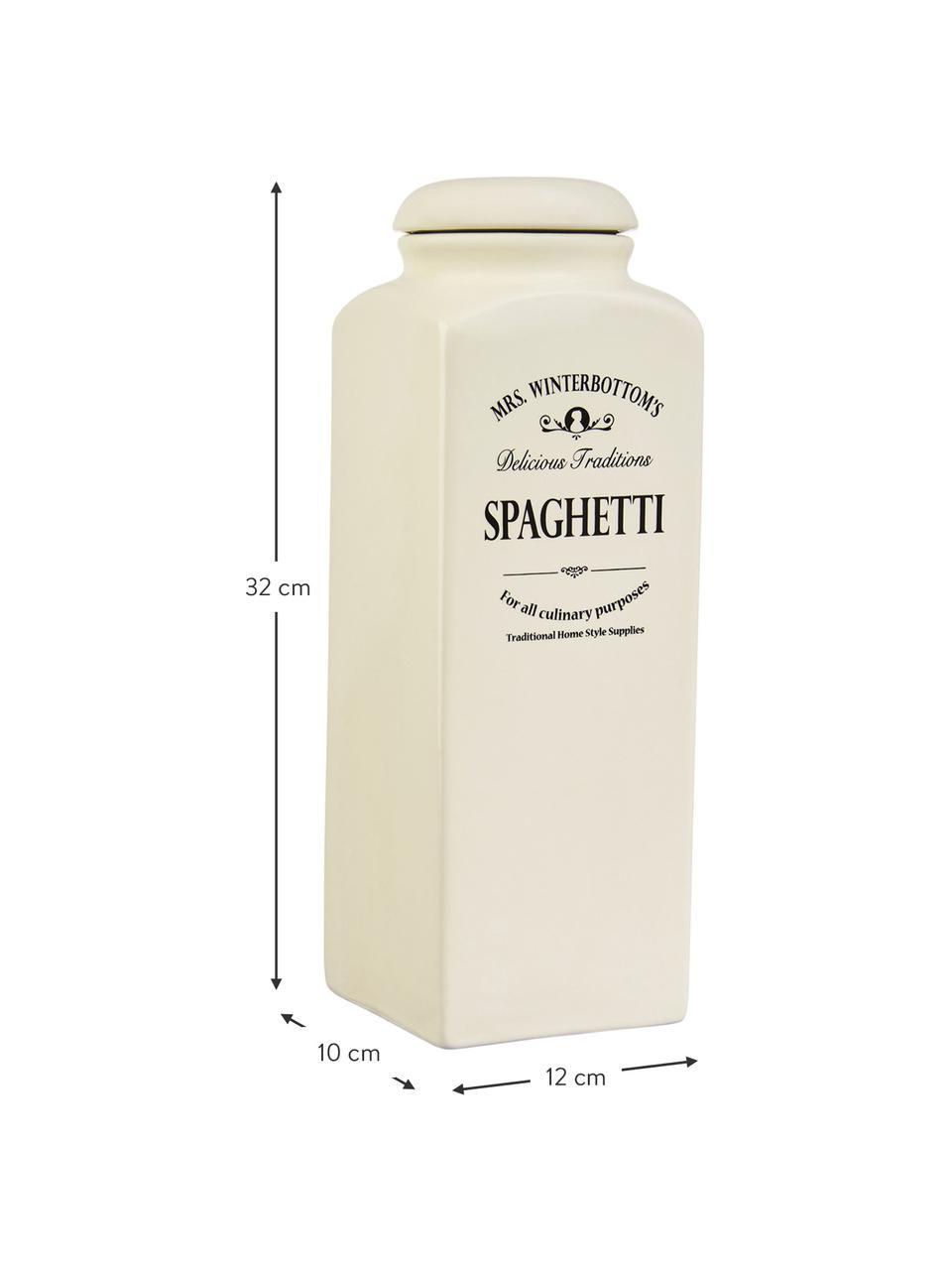 Contenitore Mrs Winterbottoms Spaghetti, Terracotta, Crema, nero, Larg. 12 x Alt. 32 cm