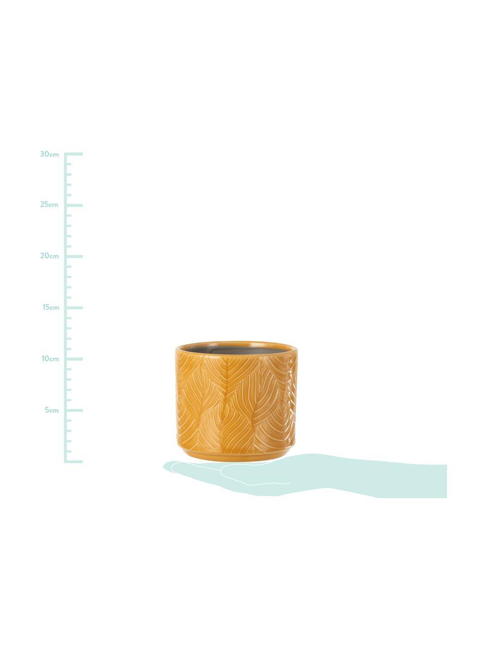 Mała doniczka Tropis, Ceramika, Brunatnożółty, Ø 12 x W 11 cm