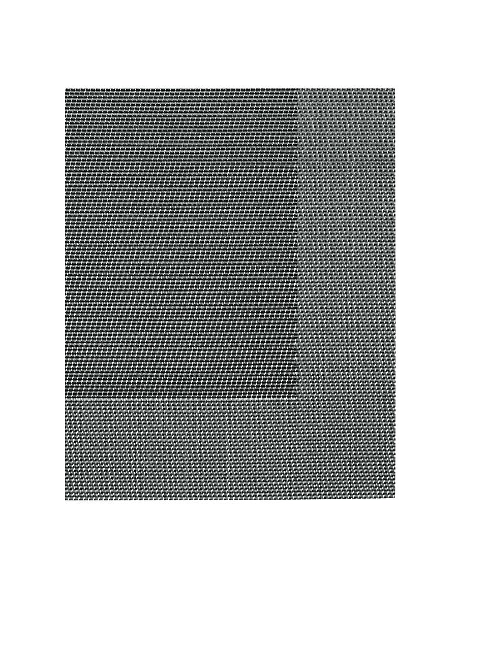 Tovaglietta americana Modern 2 pz, Materiale sintetico, Argento, nero, Larg. 33 x Lung. 46 cm