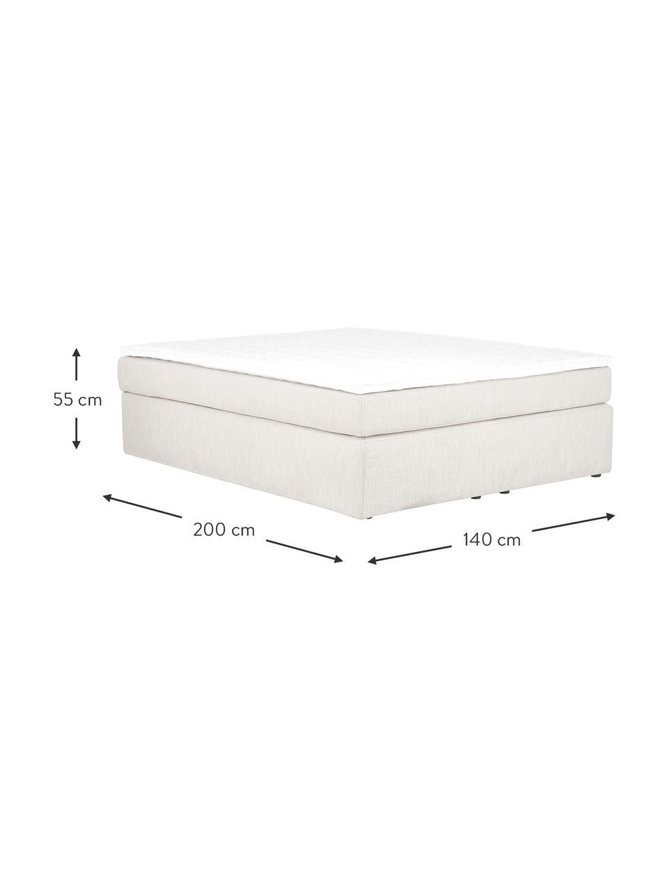Łóżko kontynentalne bez zagłówka Aries, Nogi: tworzywo sztuczne, Jasny beżowy, S 200 x D 200 cm