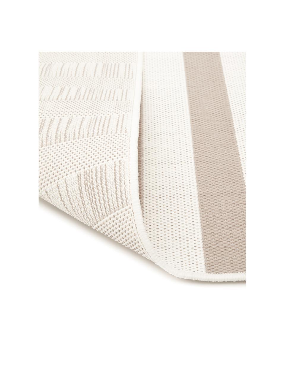 Tappeto beige/bianco a righe da interno-esterno Axa, 86% polipropilene, 14% poliestere, Bianco crema, beige, Larg. 200 x Lung. 290 cm  (taglia L)
