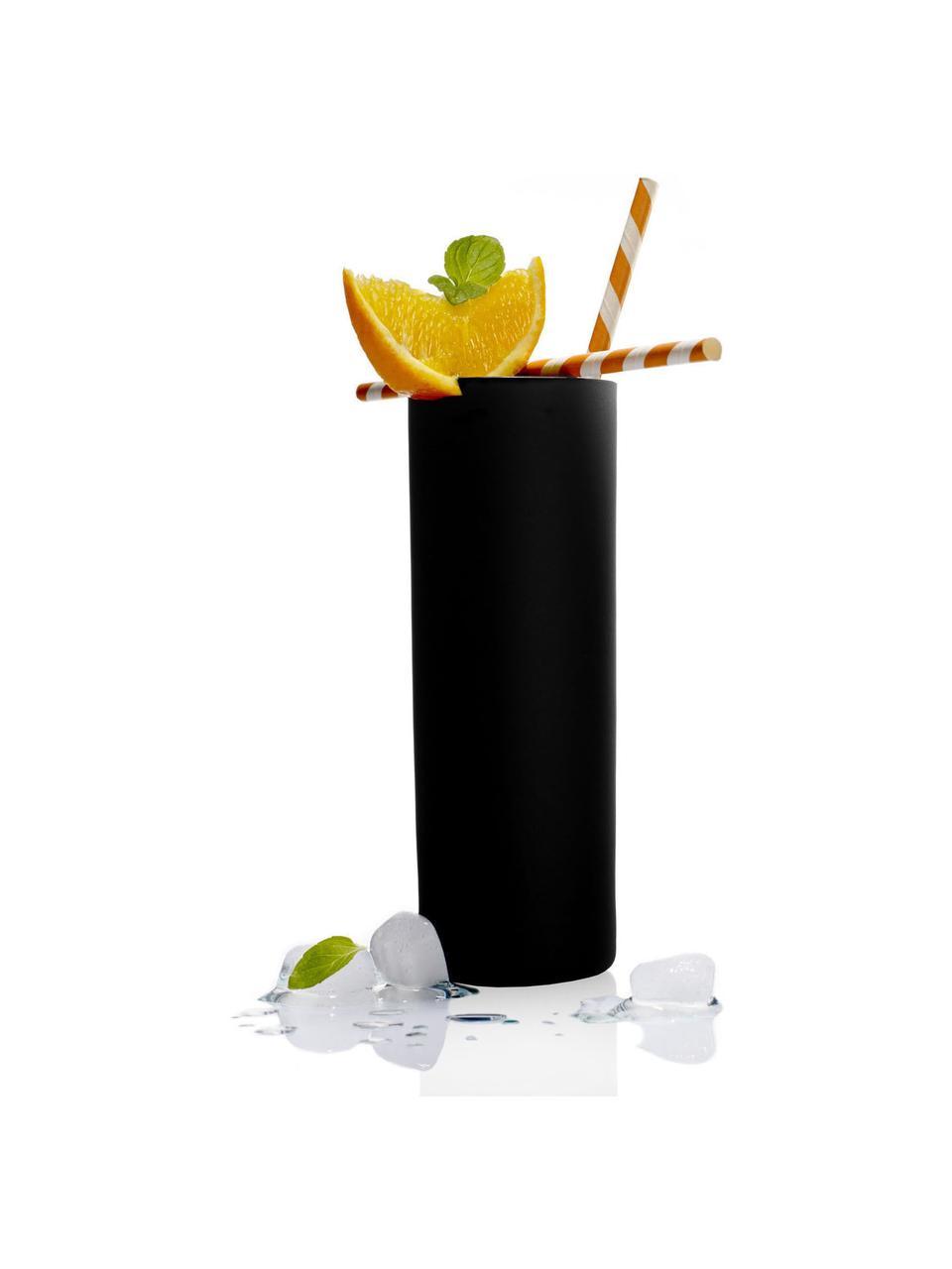 Szklanka do koktajli ze szkła kryształowego Campari, 6 szt., Szkło kryształowe, Czarny, Ø 6 x W 17 cm