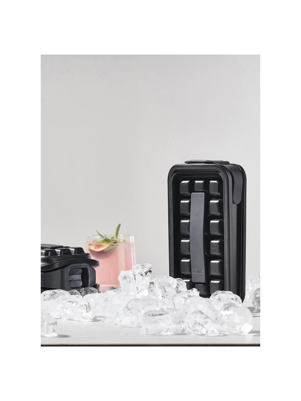 Eiswürfelform Ice, Kunststoff, Silikon, Schwarz, 12 x 21 cm
