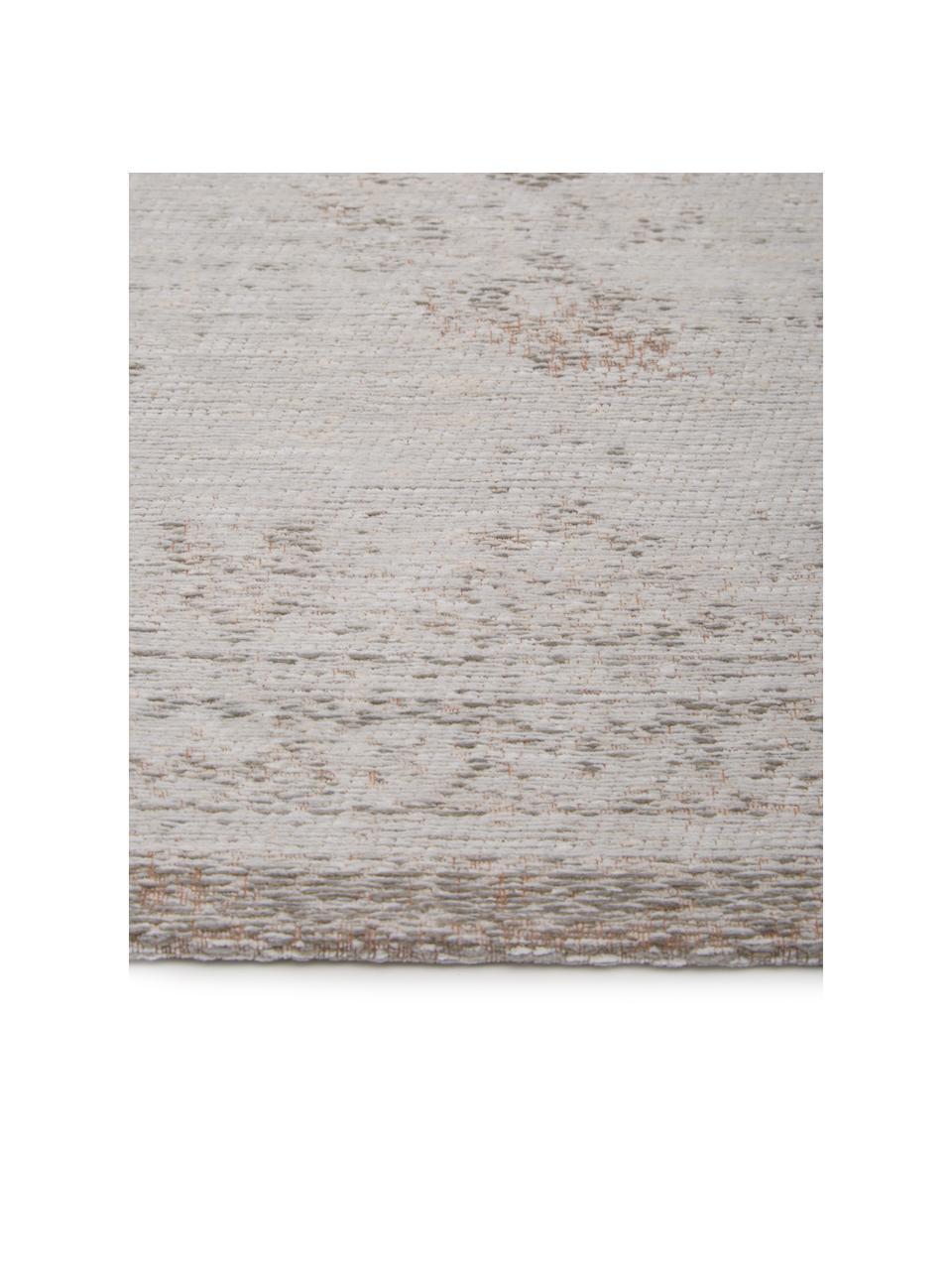 Dywan szenilowy vintage Medaillon, Jasny szary, brązowy, 140 x 200 cm (Rozmiar S)