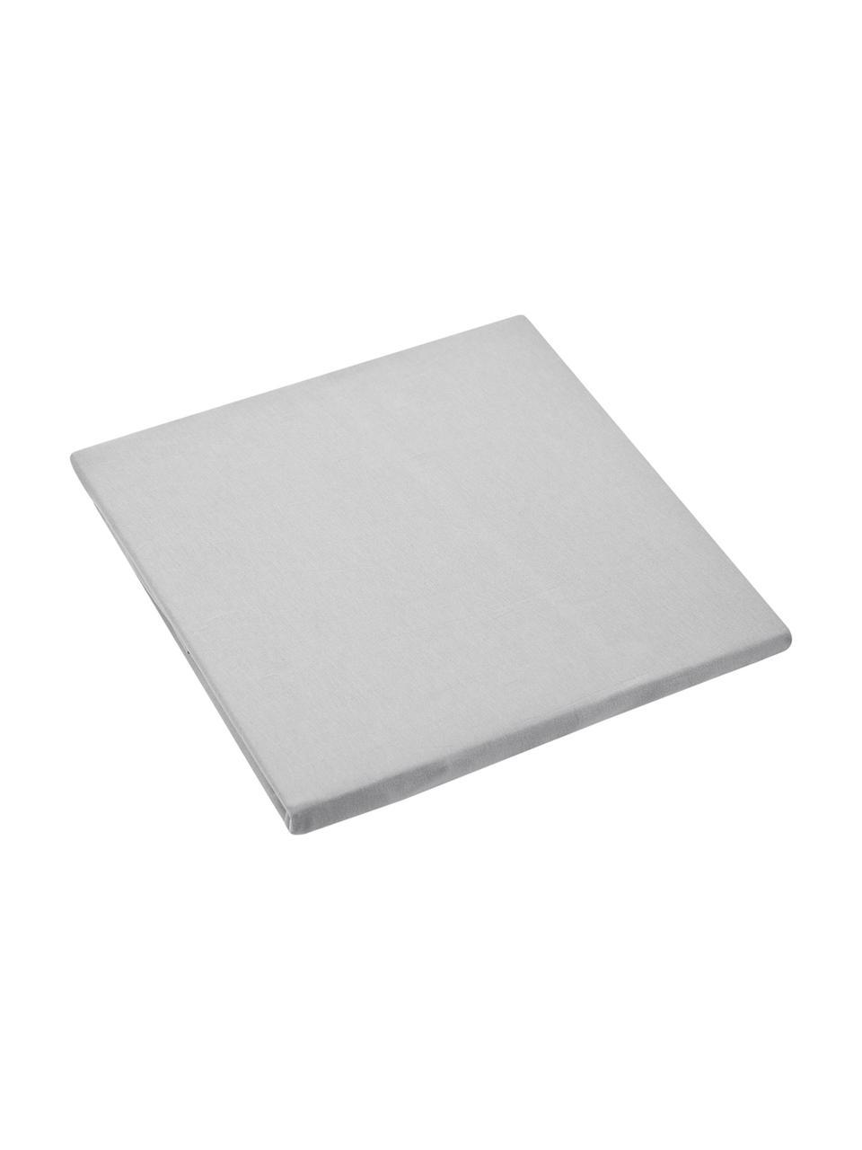 Lenzuolo con angoli in jersey-elastan grigio chiaro Lara, 95% cotone, 5% elastan, Grigio chiaro, Larg. 90-100 x Lung. 200 cm