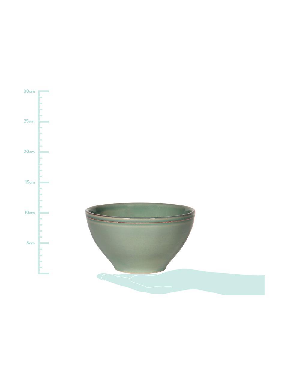 Schälchen Constance im Landhaus Style, 2 Stück, Steingut, Salbeigrün, Ø 15 x H 9 cm