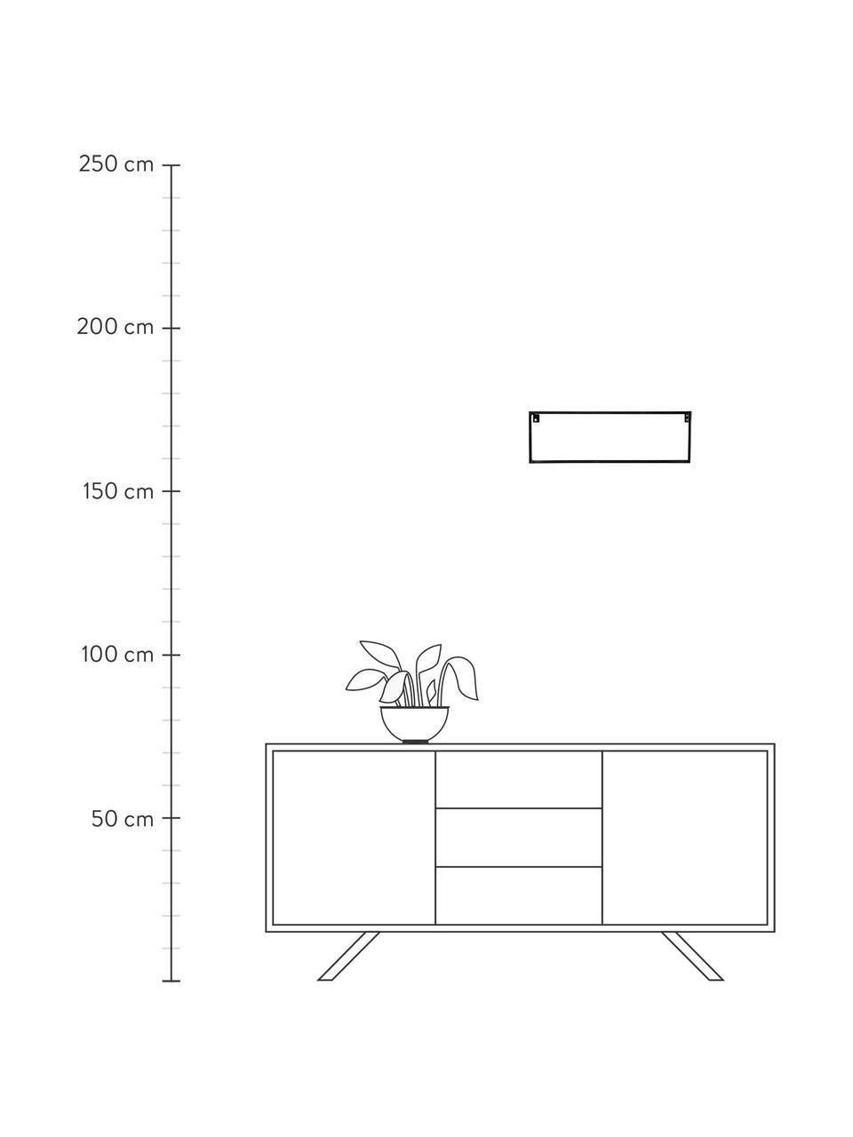 Półka ścienna z metalu Meert, Metal powlekany, Czarny, S 50 x W 16 cm