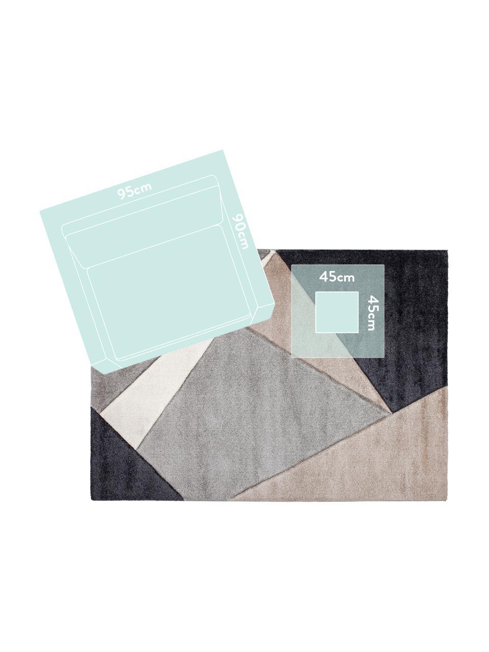 Vloerkleed My Broadway met geometrisch patroon in beige-grijs, Bovenzijde: 100% polypropyleen, Onderzijde: jute, Taupe, beige, antraciet, grijs, B 200 x L 290 cm (maat L)