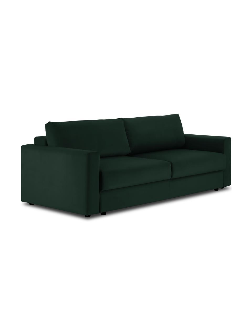 Canapé convertible en velours Tasha, Velours vert