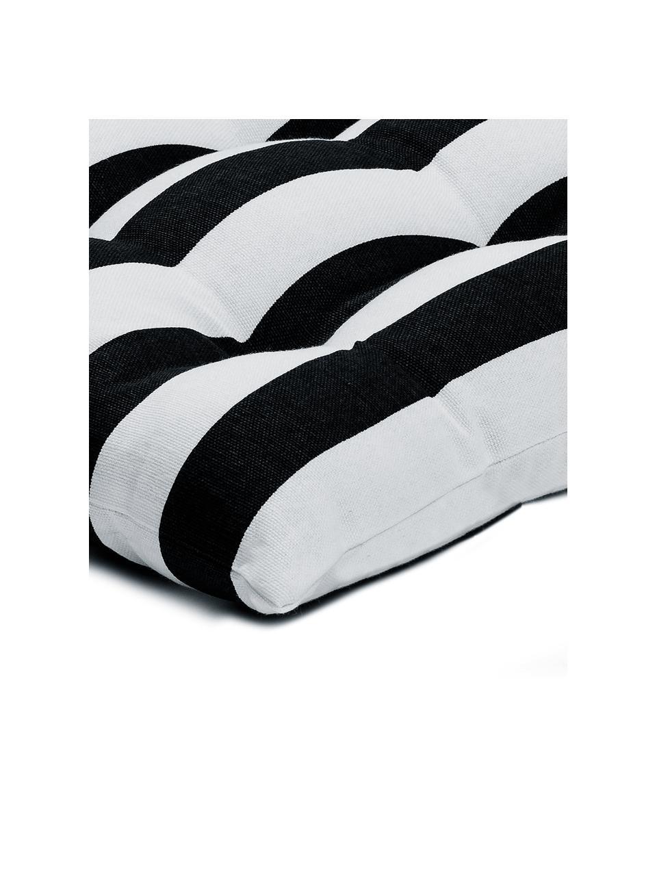 Poduszka na krzesło Timon, Czarny, S 40 x D 40 cm