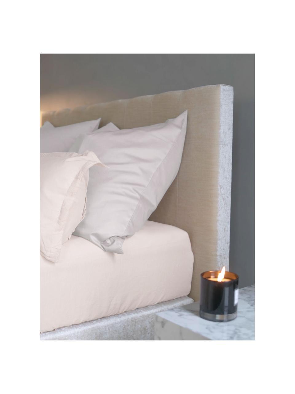 Lenzuolo con angoli in raso di cotone rosa Comfort, Rosa, Larg. 180 x Lung. 200 cm