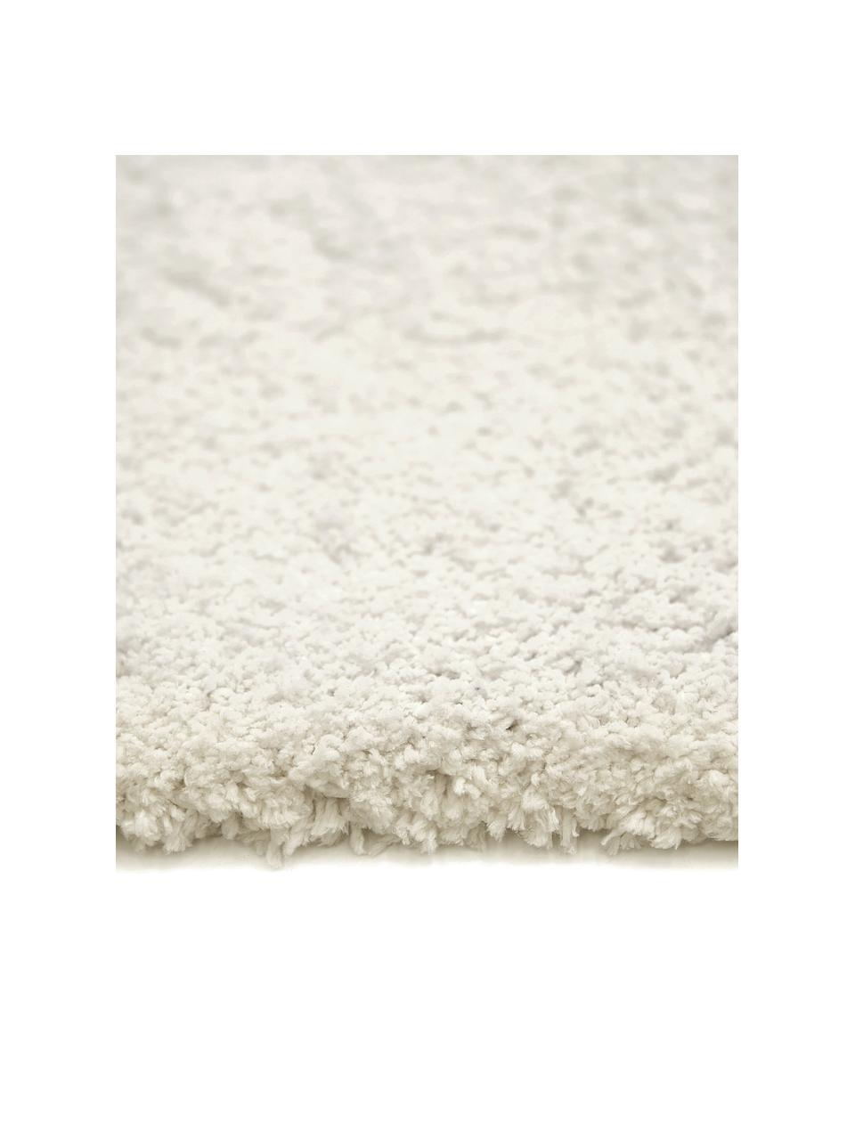 Okrągły puszysty dywan z wysokim stosem Leighton, Kremowy, Ø 200 cm (Rozmiar L)