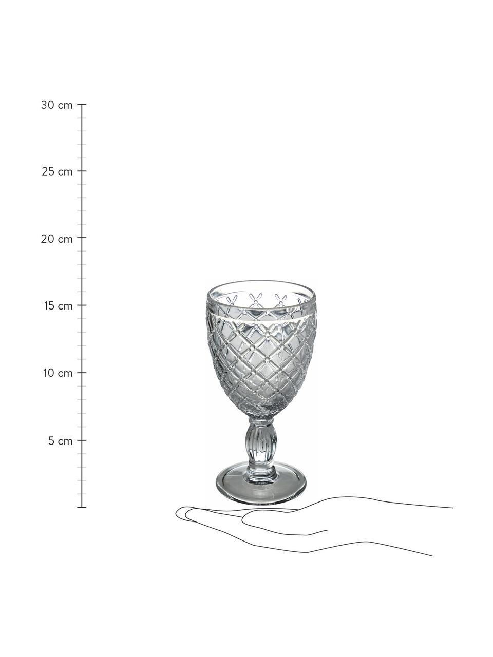 Komplet kieliszków do wina Rombi, 6 elem., Szkło, Wielobarwny, Ø 9 x W 17 cm