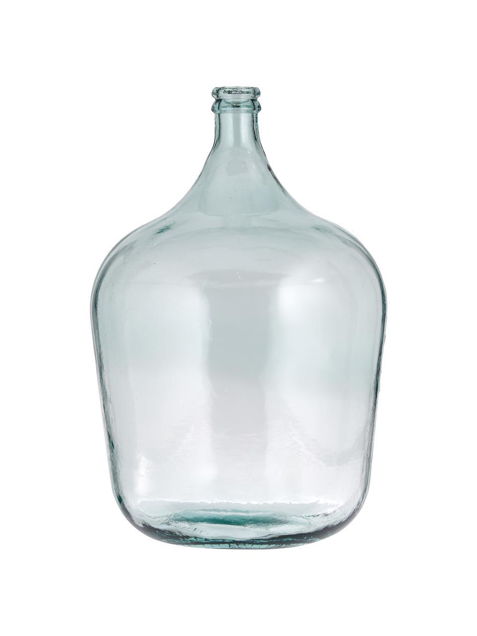 Vaso da terra in vetro riciclato Beluga, Vetro riciclato, Azzurro, Ø 40 x Alt. 56 cm