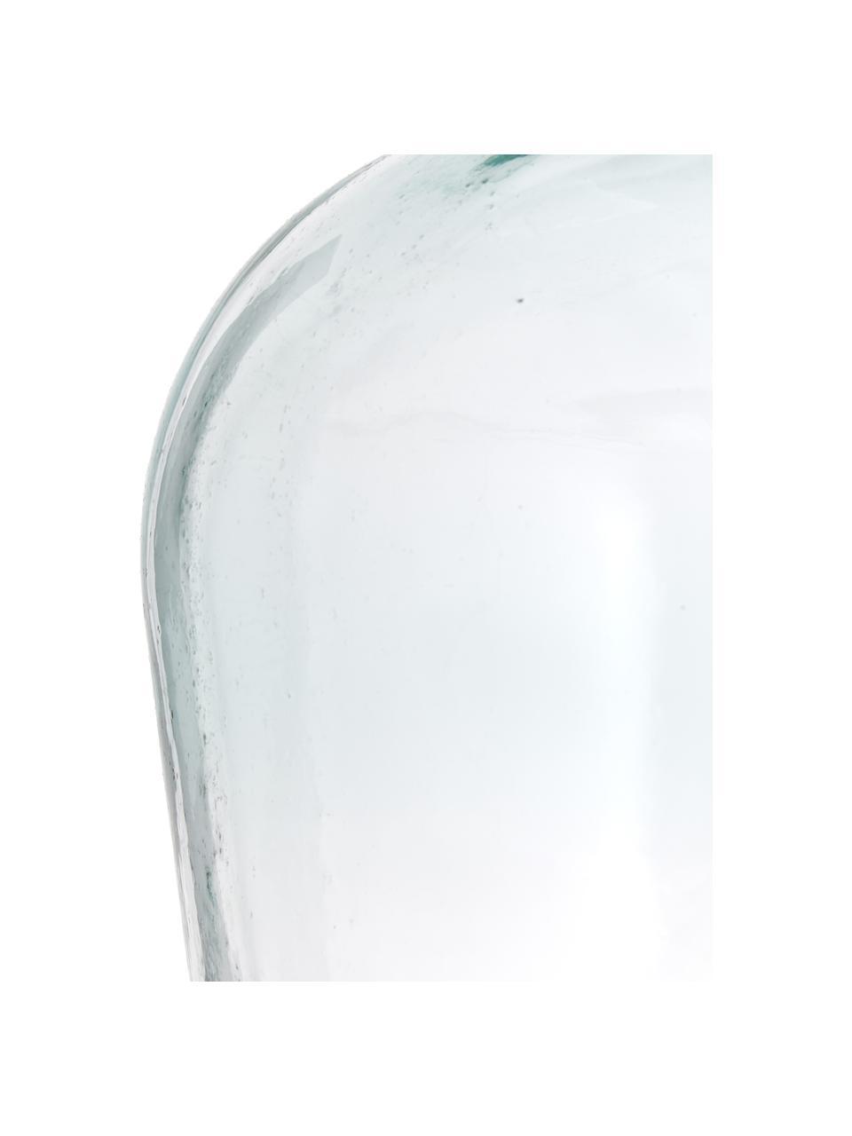 Wazon podłogowy ze szkła z recyklingu Beluga, Szkło recyklingowe, Jasny niebieski, Ø 40 x W 56 cm