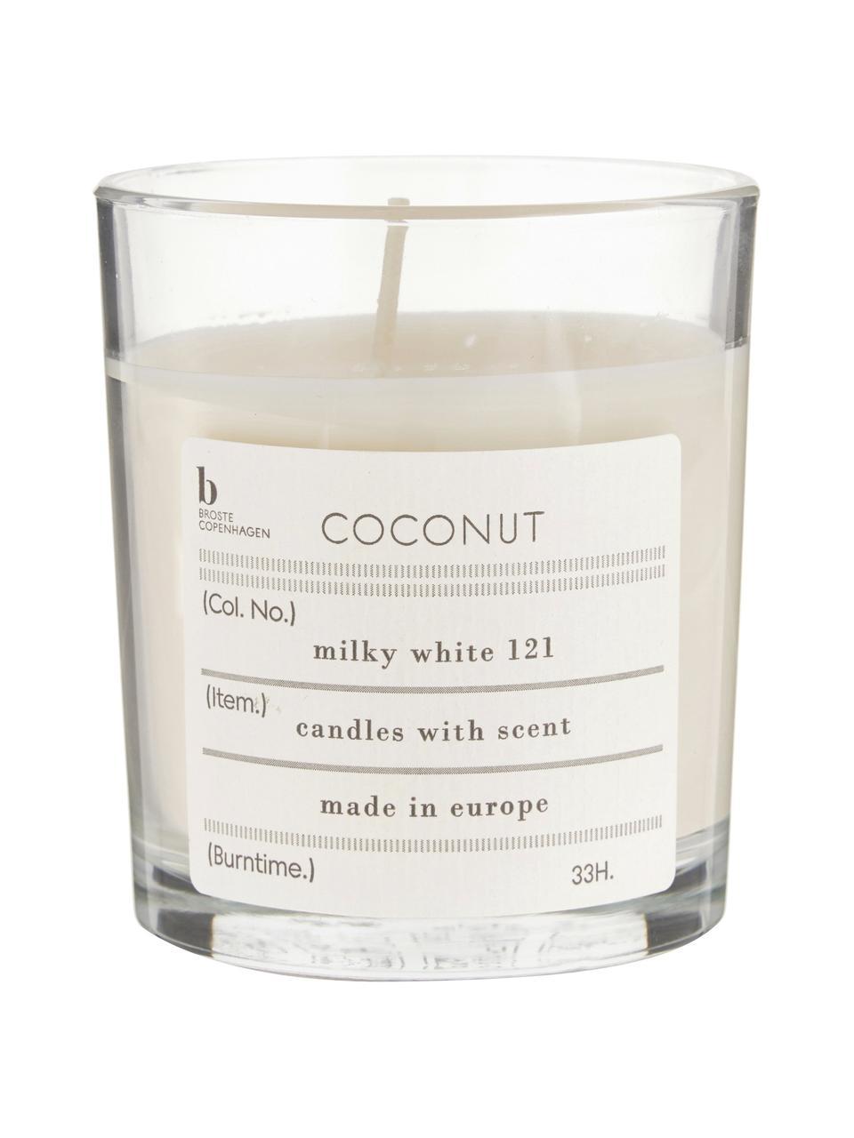 Świeca zapachowa Bliss (kokos), Naturalny wosk sojowy, szkło, Kokosowy, Ø 8 x W 8 cm