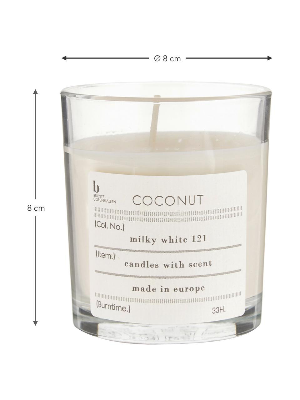 Geurkaars Bliss (kokosnoot), Natuurlijke sojawas, glas, Kokosnoot, Ø 8 x H 8 cm