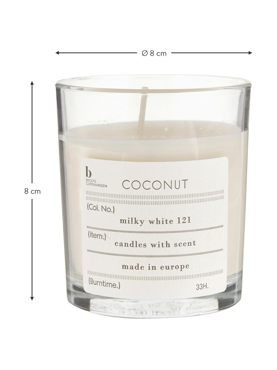 Duftkerze Bliss (Kokosnuss), Natürliches Sojawachs, Glas, Kokosnuss, Ø 8 x H 8 cm