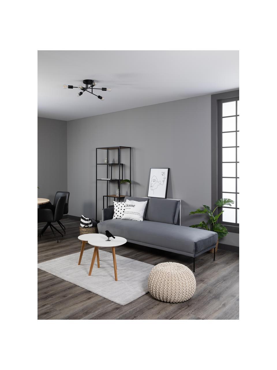 Plafonnier design noir Visby, Noir, mat