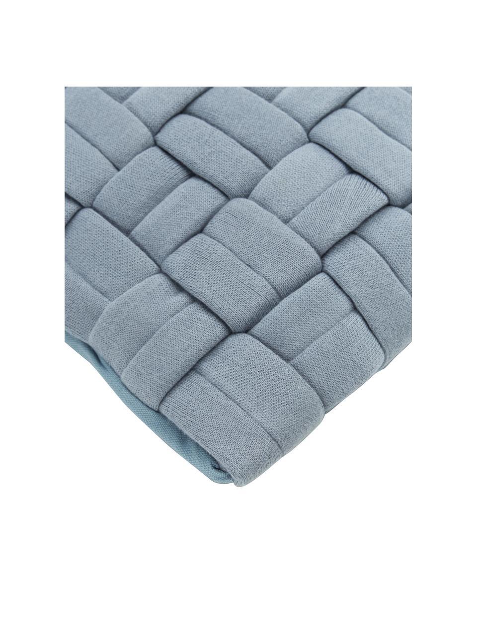Housse de coussin 40x40 bleu Norman, Bleu
