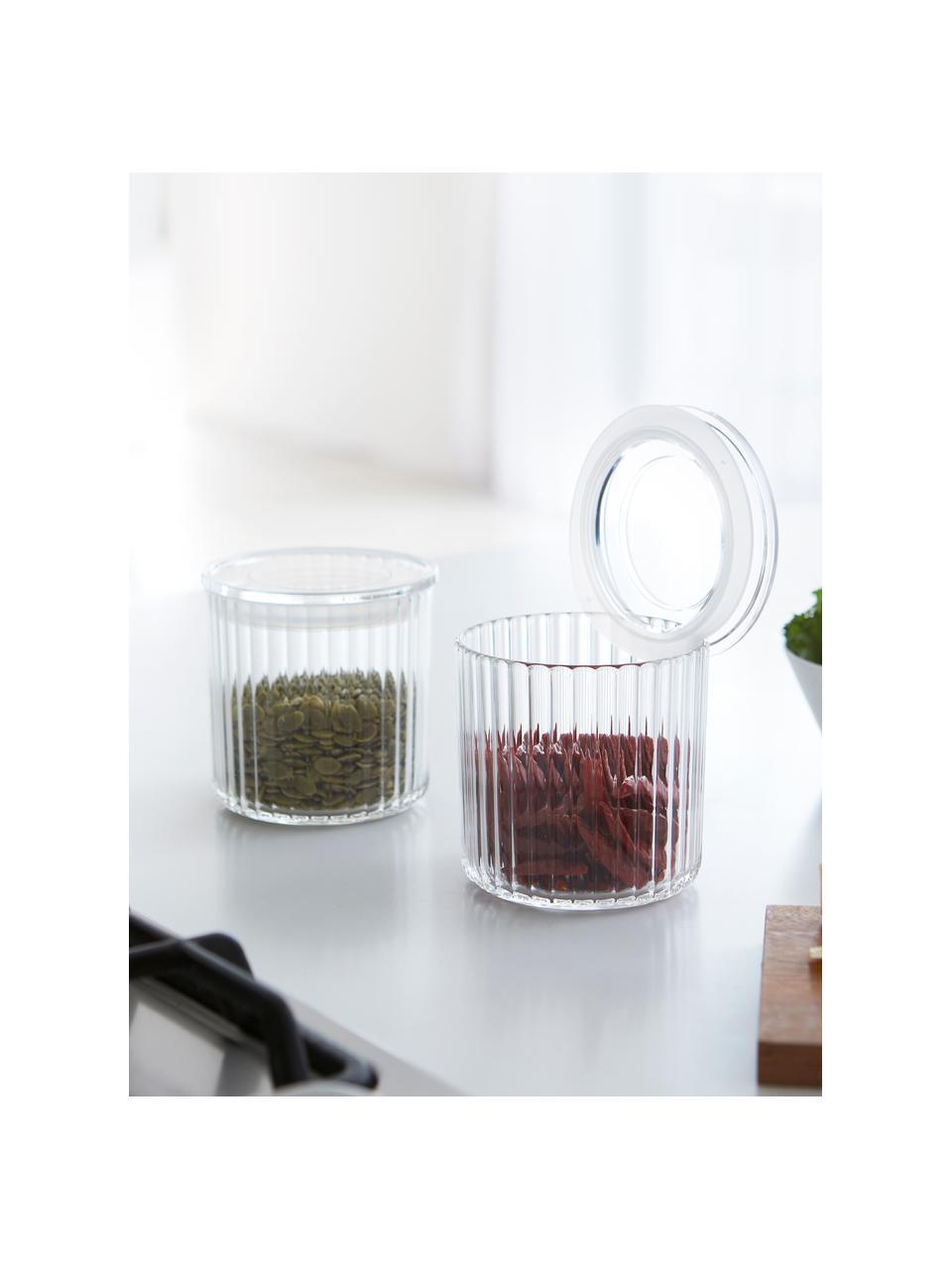Aufbewahrungsdose Fonte aus Kunststoff, Ø 10 x H 11 cm, Kunststoff (PMS), Transparent, Ø 10 x H 11 cm