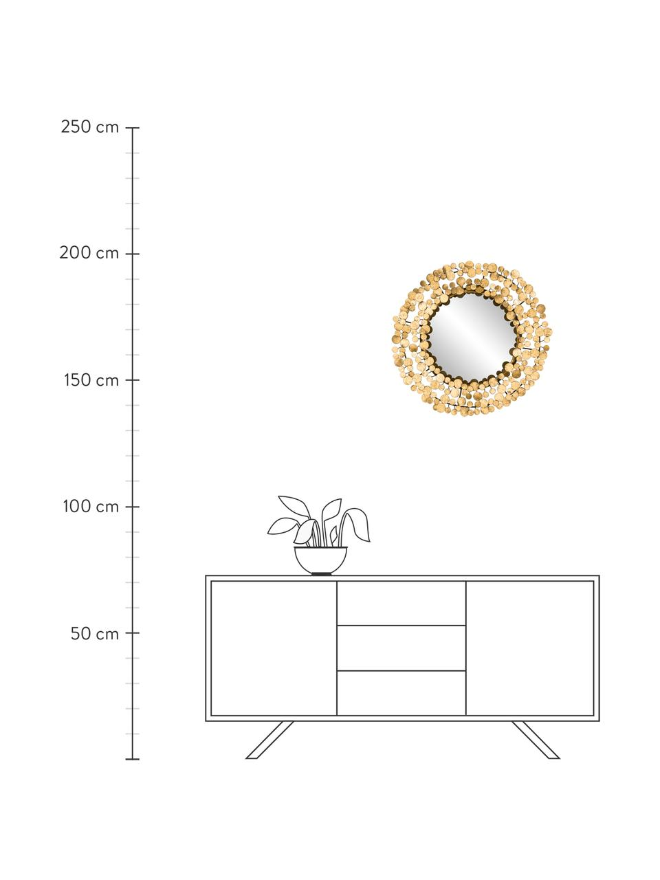 Wandspiegel Penny, Frame: ijzer gecoat met goudkleu, Goudkleurig, Ø 64 cm