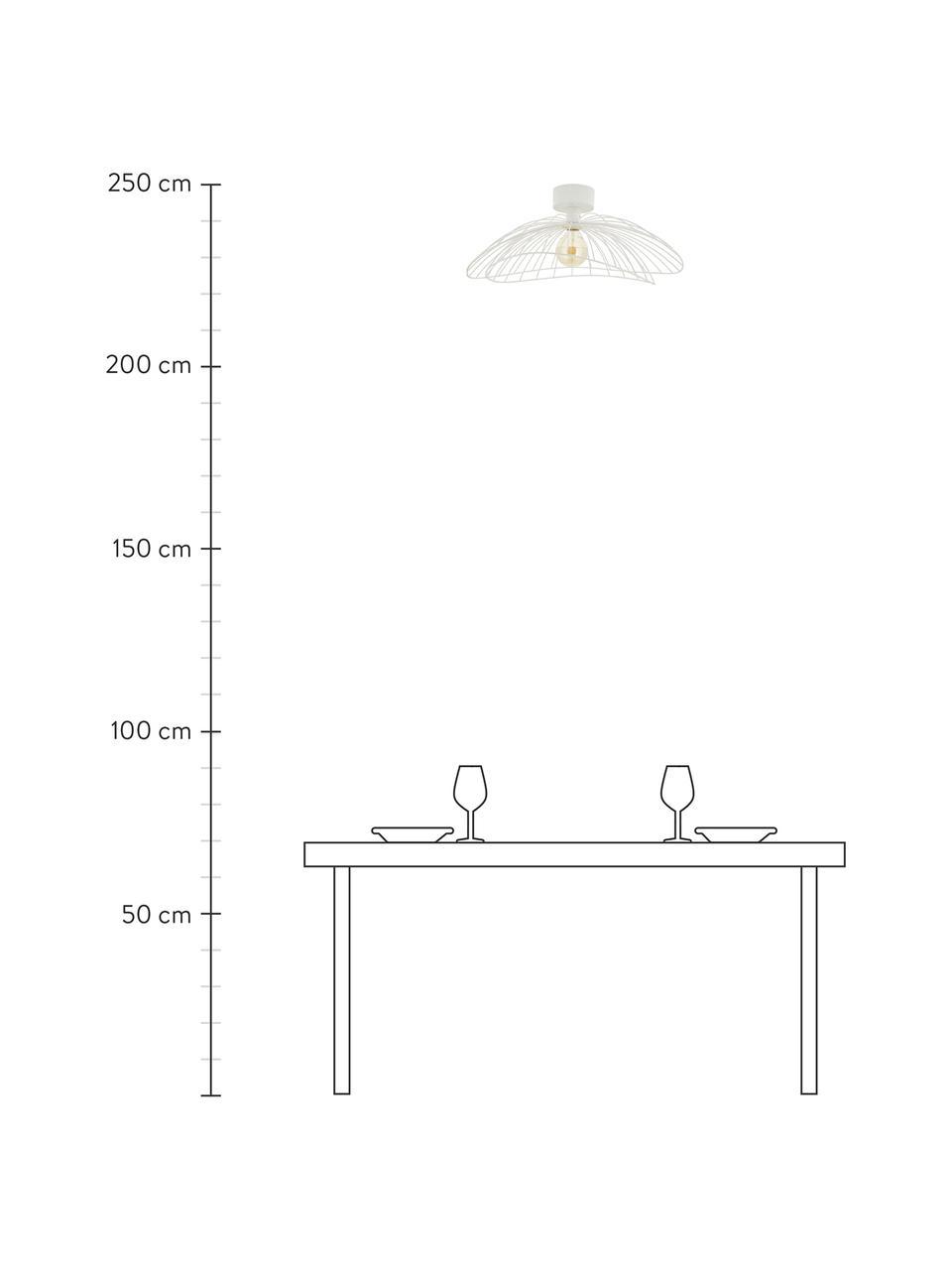 Plafoniera da parete e soffitto Ray, Paralume: metallo, Bianco, Ø 60 x Alt. 20 cm